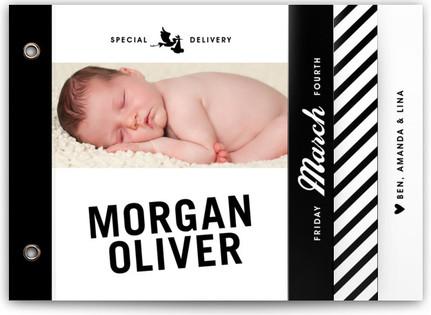 Vintage Label Birth Announcement Minibooks