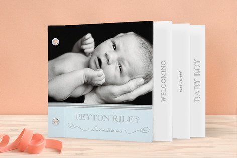 Sweet Sophistication Birth Announcement Minibook™ Cards
