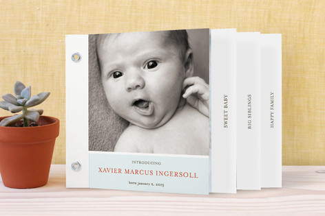 Poetic Birth Announcement Minibook™ Cards