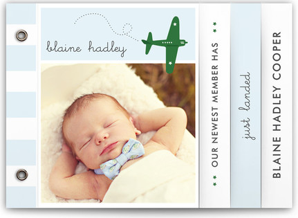 Fly By Baby Birth Announcement Minibooks