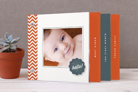 Chevron Hello Birth Announcement Minibook™ Cards