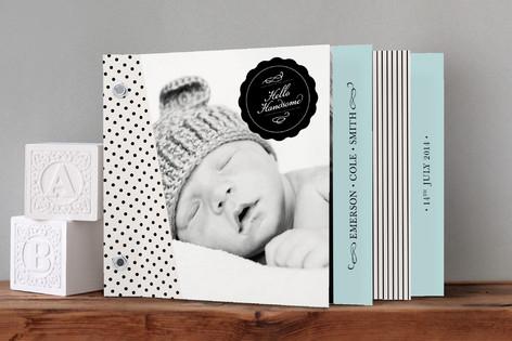 Hello, Handsome Birth Announcement Minibook™ Cards