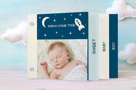 Dream Come True Birth Announcement Minibook™ Cards
