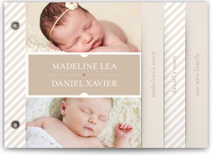 Twin Windows Birth Announcement Minibooks