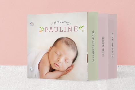Sweet Pauline Birth Announcement Minibook™ Cards