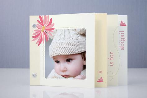 Petals in the Breeze Birth Announcement Minibook™ Cards
