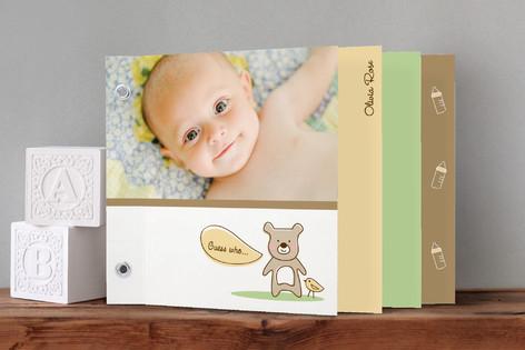 Baby Bear Birth Announcement Minibook™ Cards