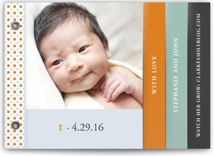Oh-So-Mod Birth Announcement Minibooks