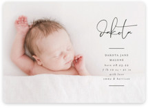 This is a black petite birth announcement by Lehan Veenker called Signed With Love with standard printing on smooth signature in petite.