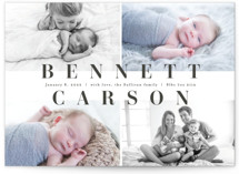This is a brown petite birth announcement by Michelle Taylor called Full Name with standard printing on signature in petite.