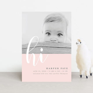 Glee Birth Announcement Petite Cards