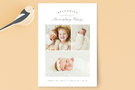 Sweet Welcoming Birth Announcement Petite Cards