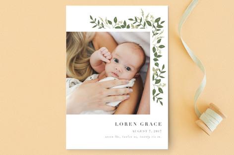 Green Gardens Birth Announcement Petite Cards