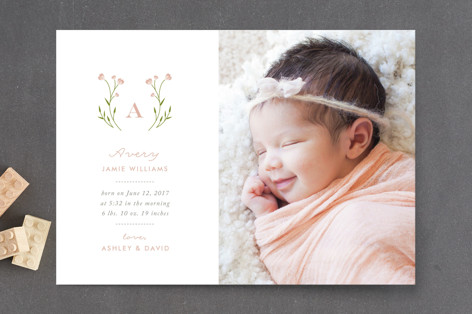 Oh So Sweet Birth Announcement Petite Cards