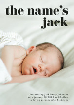the name Birth Announcement Petite Cards