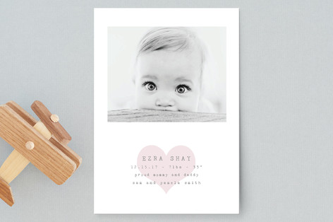 Our Heart Birth Announcement Petite Cards