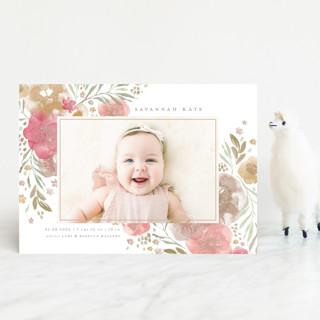 Garden Bouquet Birth Announcement Petite Cards