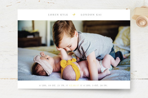 addition Birth Announcement Petite Cards