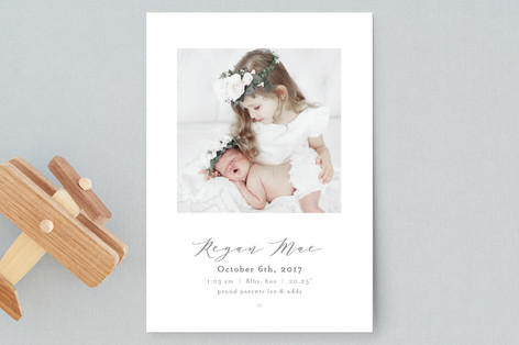 New Addition Birth Announcement Petite Cards