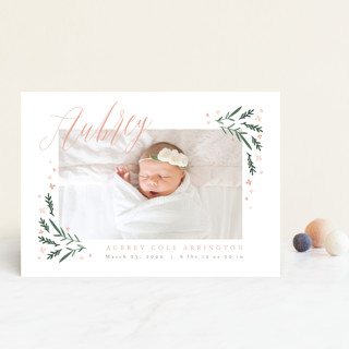 Dainty Botanicals Birth Announcement Petite Cards