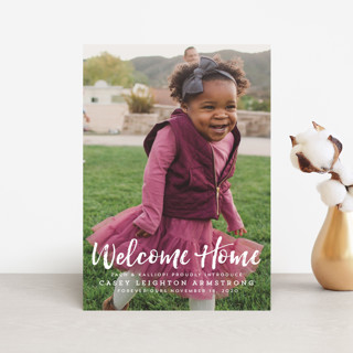 Homecoming Birth Announcement Petite Cards