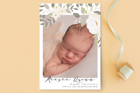 Woodland Birth Announcement Petite Cards