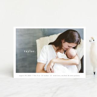 Simple Type Birth Announcement Petite Cards
