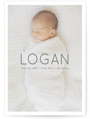 Clean and Classy Birth Announcement Petite Cards