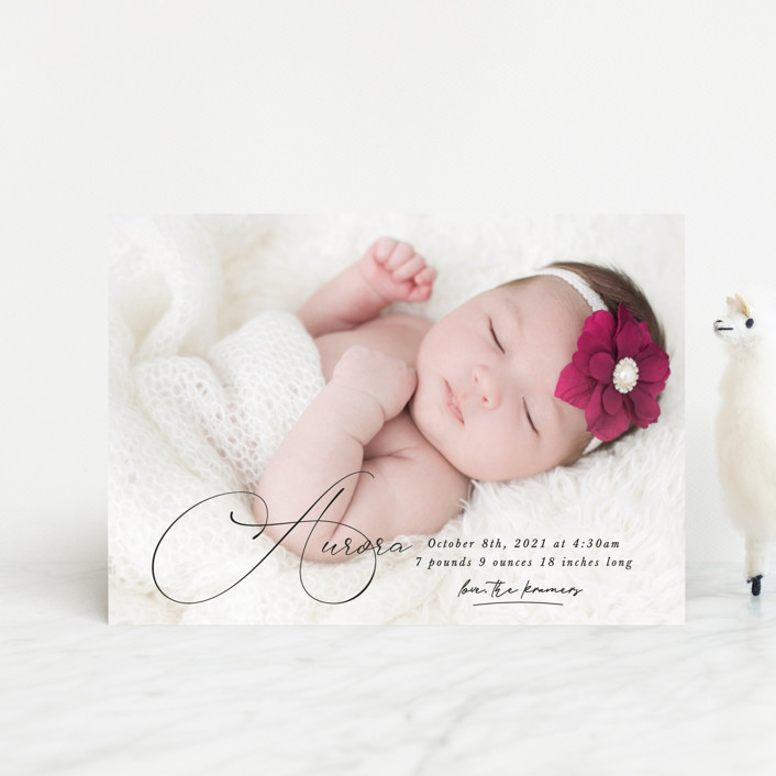 """""""Special love"""" - Birth Announcement Petite Cards in Onyx by Kristel Torralba."""