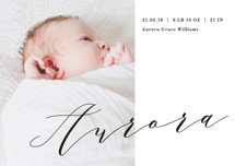 Bold Elegance Birth Announcement Petite Cards
