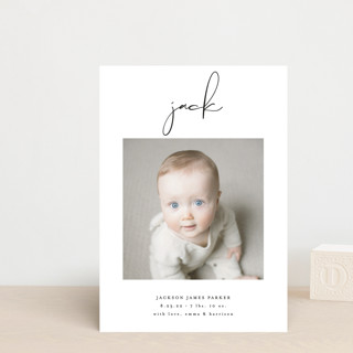 Just Me Birth Announcement Petite Cards