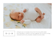 Everett Birth Announcement Petite Cards