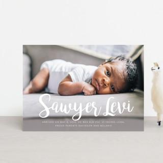 Big & Bold Birth Announcement Petite Cards