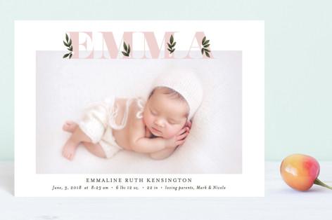 Botanical Name Birth Announcement Petite Cards