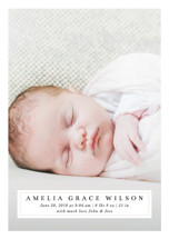 Simple Elegance Birth Announcement Petite Cards