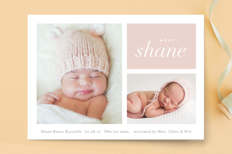 Second Glance Birth Announcement Petite Cards