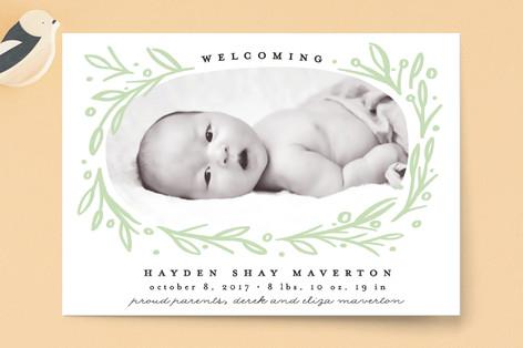 Botanics Birth Announcement Petite Cards