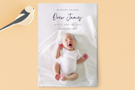 proud welcome Birth Announcement Petite Cards