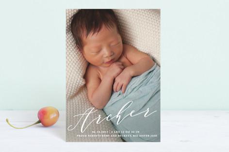 Namesake Birth Announcement Petite Cards