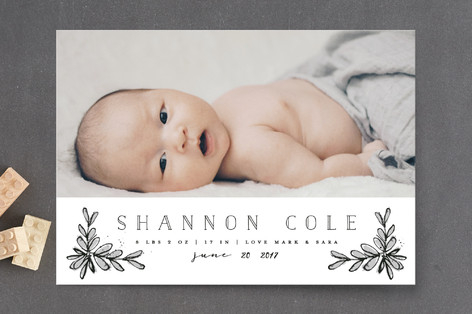 Inked Birth Announcement Petite Cards