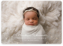 This is a white birth announcement magnet by Joanna Griffin called Glitter Stardust with foil-pressed printing on magnet paper in magnet.