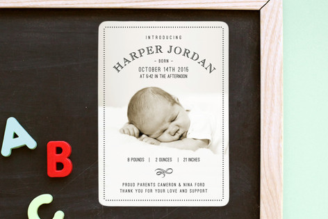 5th Avenue Birth Announcement Magnets