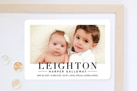 Bold Announcement Birth Announcement Magnets
