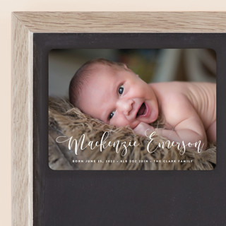 Featured Name Birth Announcement Magnets
