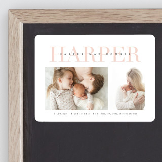 Love-ly Birth Announcement Magnets