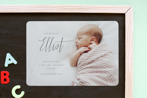 A Simple Hello Birth Announcement Magnets