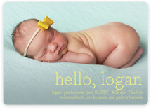 Hello Baby Birth Announcement Magnets