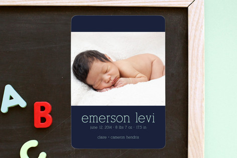 Luxe Birth Announcement Magnets