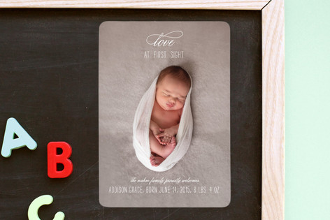 Love at First Sight Birth Announcement Magnets