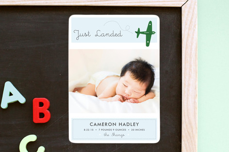 Fly By Baby Birth Announcement Magnets